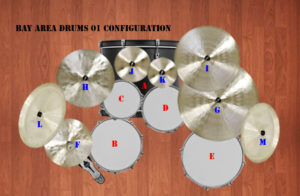 Metal Drum Samples - The Bay Area 1 Drum and Cymbal Sample Pack