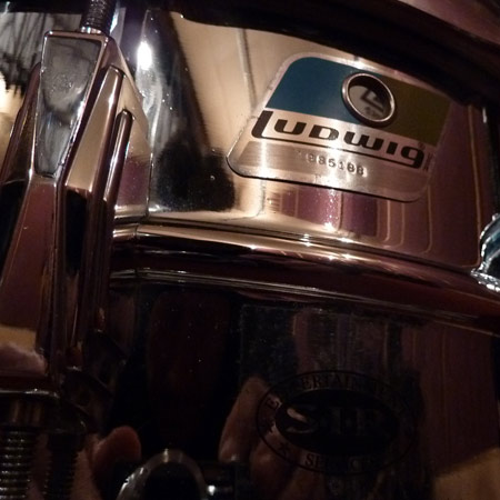 custom snare samples from Ludwig 1970s olive