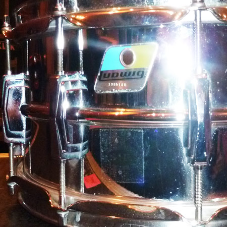 Ludwig snare drum single shots