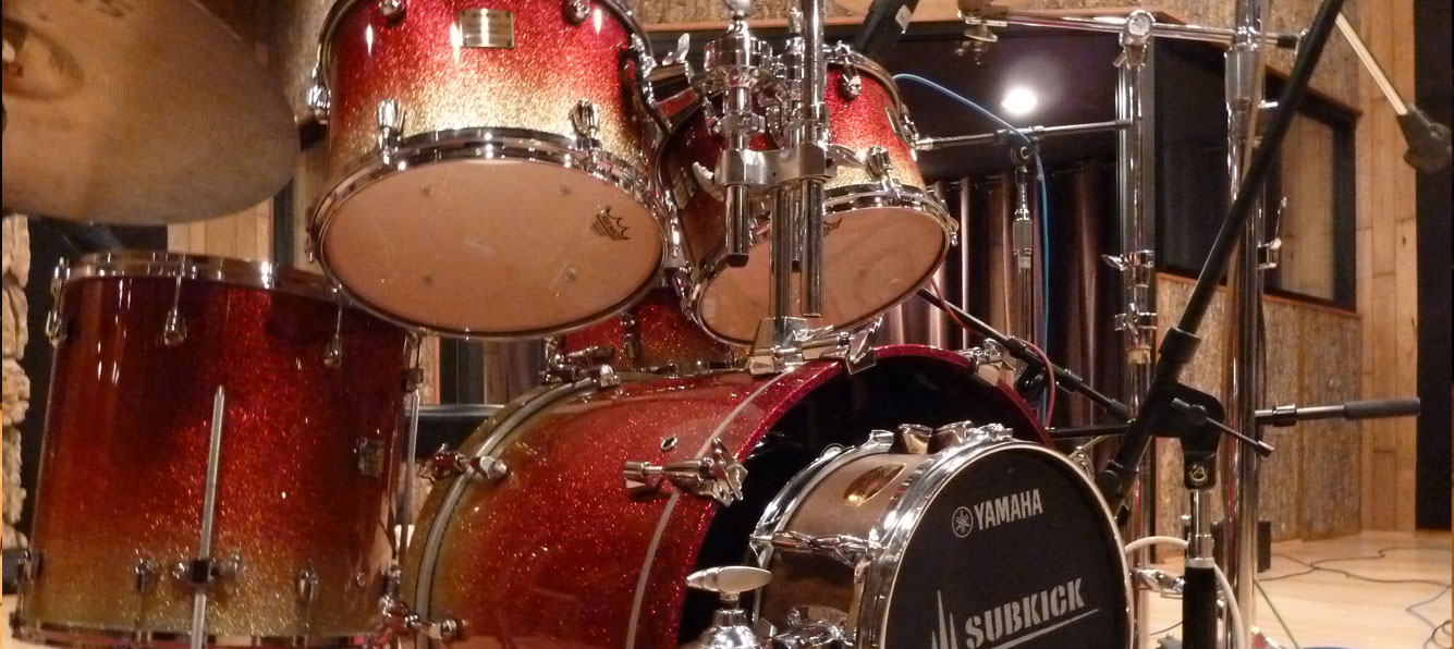 Yamaha Recording Maple Drum Kit Recording Session