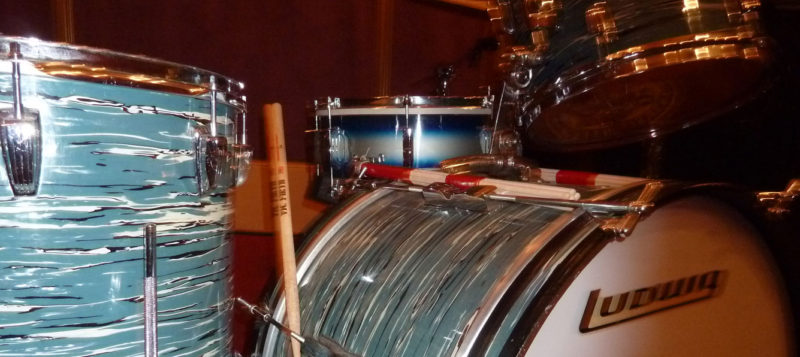 Vintage Ludwig Drum Samples 60s Oyster Kit