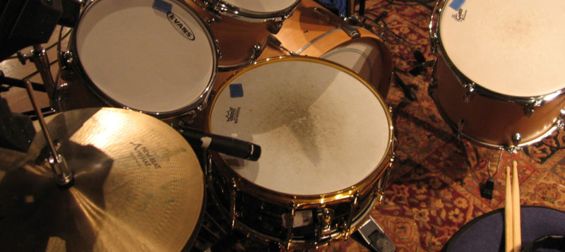 SM57 Recording Pearl Brass Snare Drum
