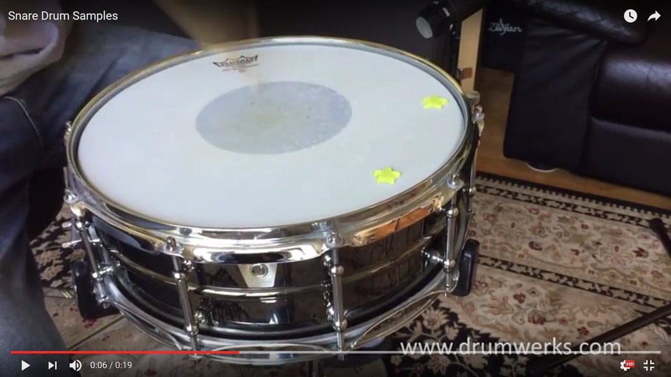 Free Snare Samples|Ludwig Black Beauty Snare Drum – Drum Werks